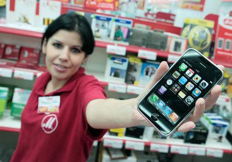 iPhone 3G propali s prilavkov magazinov v Rossii