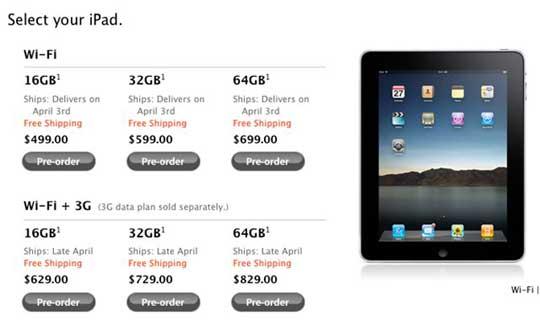 V SSHA startoval predzakaz na iPad