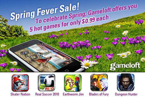 Vesennyaya super aktsiya ot Gameloft