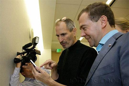 Vstrecha Dmitriya Medvedeva i Stiva Dzhobsa