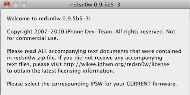 Redsn0w 0.9.5b5-3