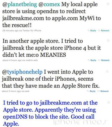 Apple nachala borʹbu s JailbreakMe.com v svoih magazinah