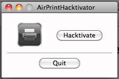 AirPrint Aacktivator