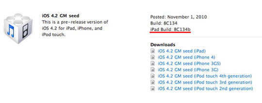 iOS 4.2 GM