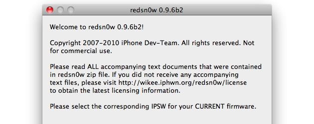 RedSn0w 0.9.6b2