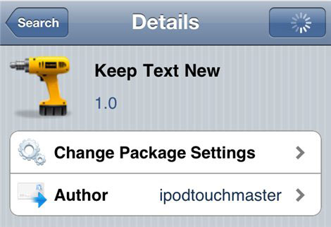 Cydia_Keep Text New