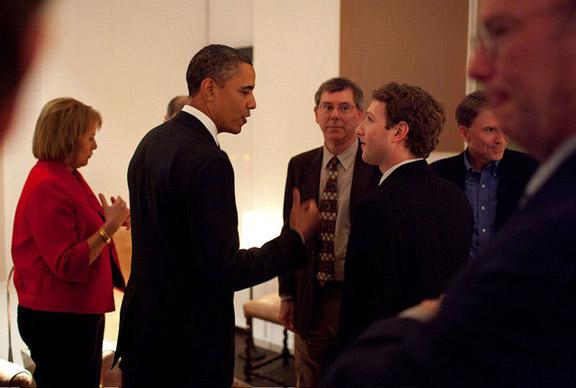 Stiv Dzhobs na vstreche s prezidentom SSHA