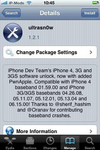 Unlock iOS 4.3.1