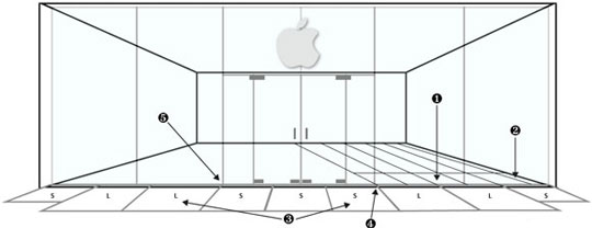 Steklyannyĭ i simmetrichnyĭ Apple Store v Berkli