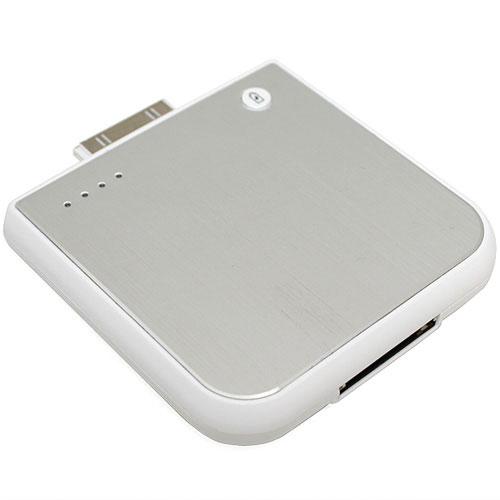 Vneshniĭ akkumulyator dlya iPhone 3G 4G/iPod 1900 mAh Stalʹnoĭ bely