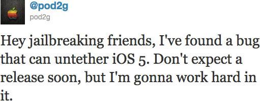 Ne privyazannomu dzhyeilbryeiku iOS 5 byt!